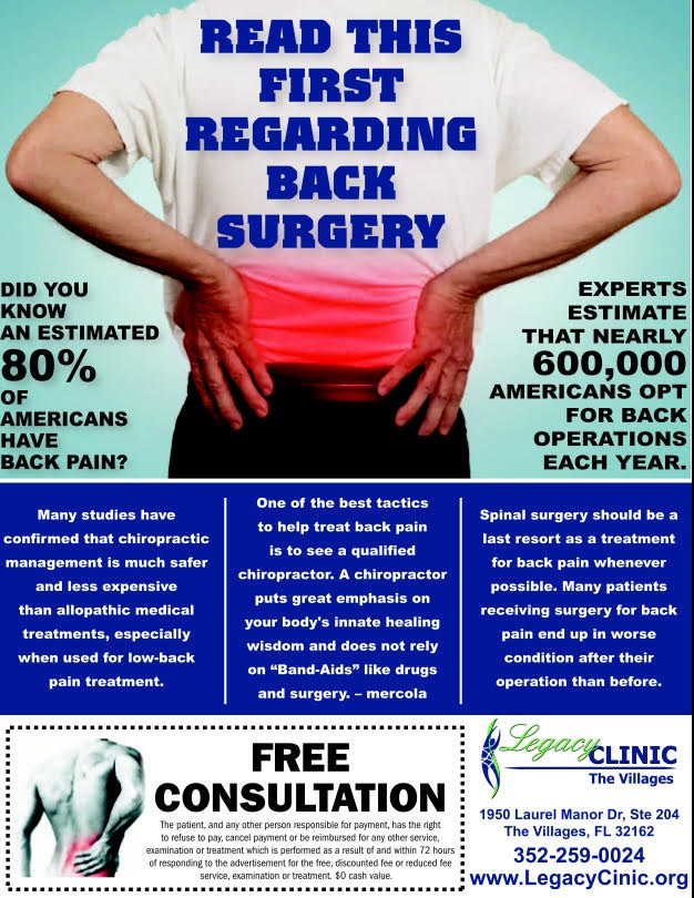 Spinal decompression or spinal surgery